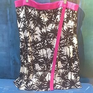 Inc skirts extra large with black palm trees